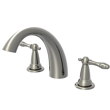 Aqueous Faucet Lady Chelsea Double Handle Deck Mount Roman Tub Faucet Lever Handle; Chrome