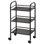Alvin and Co. Storage Cart 29.75'' 3 Shelf Shelving Unit; Black