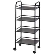 Alvin and Co. Storage Cart 29.75'' H 4 Shelf Shelving Unit; Black