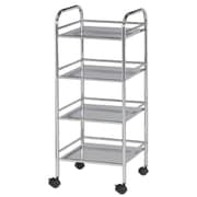 Alvin and Co. Storage Cart 29.75'' H 4 Shelf Shelving Unit; Chrome