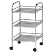 Alvin and Co. Storage Cart 29.75'' 3 Shelf Shelving Unit; Chrome