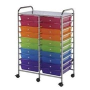 Alvin and Co. Blue Hills Studio Storage Cart with Twenty Multicolor Drawers