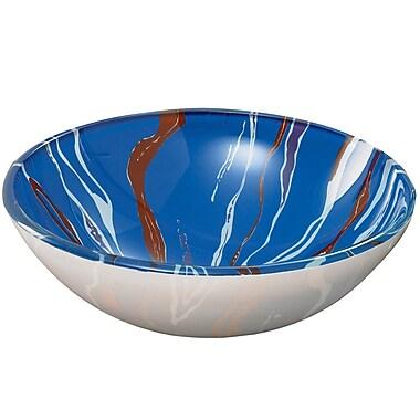 DecoLav Translucence Swirl Tempered Glass Vessel Bathroom Sink