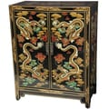 Oriental Furniture Dragons Shoe Cabinet