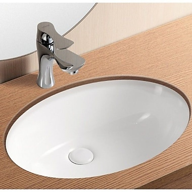 Caracalla Ceramica II Oval Ceramic Undermount Bathroom Sink w/ Overflow