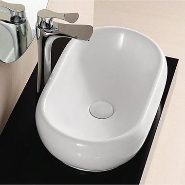 Caracalla Ceramica II Oval Ceramic Vessel Bathroom Sink