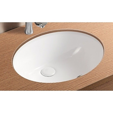 Caracalla Ceramica II Oval Undermount Bathroom Sink w/ Overflow