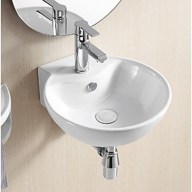 Caracalla Ceramica II 15.8'' Round Wall Mounted Bathroom Sink w/ Overflow