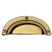 Bosetti-Marella Cup/Bin Pull; Polished Brass