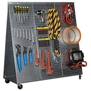 Alligator Board 48'' x 20'' ''A'' Frame Metal Pegboard WOW Tool Cart with Wheels