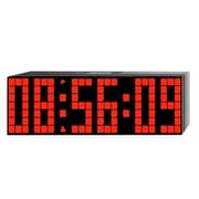 Big Time Clocks Large Lattice LED Multi-Alarm / Countdown / Up Clock with Remote
