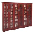 Leslie Dame Glass Door High Capacity Multimedia Cabinet; Dark Cherry