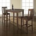 Crosley 3 Piece Pub Table Set; Vintage Mahogany