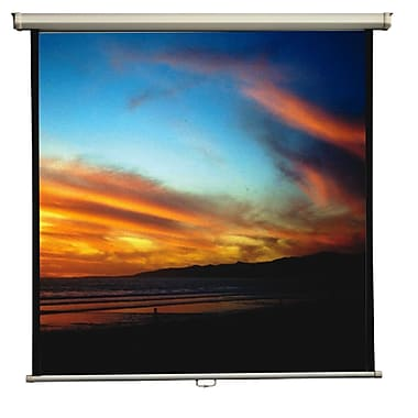 Mustang Matte White Manual Projection Screen; 70'' H x 70'' W
