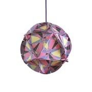 dCOR design Como 1 Light Globe Pendant; Pink