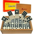 Trademark Global Premium Double Nine Dominoes with Wood Case (Set of 55)