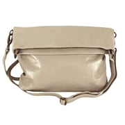 Latico Leathers Ashley Large Mimi Convertible Cross-Body Bag; Putty