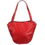 Latico Leathers Waverly Tulip City Flapper Tote Bag; Red