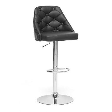 Wholesale Interiors Baxton Studio Salzburg Modern 24.5'' Adjustable Swivel Bar Stool
