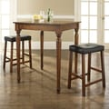 Crosley 3 Piece Counter Height Pub Table Set; Classic Cherry