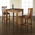 Crosley 3 Piece Pub Table Set; Classic Cherry