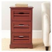Safavieh Samara 3 Drawer Cabinet; Cherry