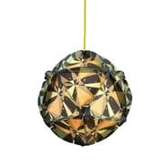 dCOR design Como 1 Light Globe Pendant; Grey