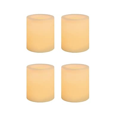 Inglow Wax Flameless LED Votive Candle 4 Pack
