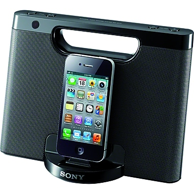 Sony® RDP-M7IPN Portable Speaker Dock For iPod, Black