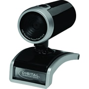 Digital Innovations ChatCam HD Webcam, 720p HD, Glossy Black/Silver