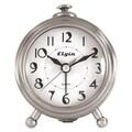 Geneva® 3514E Elgin Bedside Alarm Clock, Silver