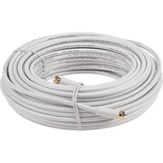Voxx™ RCA 50' RG6 F Connector Coaxial Cable, White