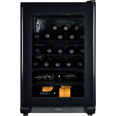Haier HVFE024BBB 24 Bottle Capacity Wine Cellar With Single Zone Electronic Thermostat, Black