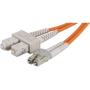 QVS® 3.28' LC/SC Fiber Optic Duplex Patch Cable