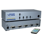 QVS® 4 Port VGA Video Share Switch With Remote Control
