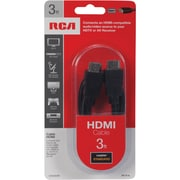 RCA 3' HDMI Male/Male Digital Audio/Video Cable, Black