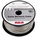 RCA 100' Cat5e RJ-45 Male/Male Network Cable, Gray