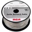 RCA 100' Cat5e RJ-45 Male/Male Network Cable, Gray