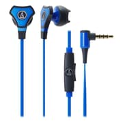 Audio Technica-Headphones Sonic Fuel Ath-Chx5bl Hybrid Earbud Headphones Blue