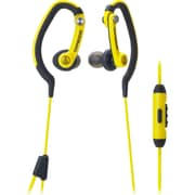Audio-Technica SonicSport ATH-CKP200iSYL In-Ear Headphone with Mic, Yellow
