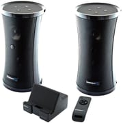 Sabrent™ SP-NELO 8 W RMS 900 MHz UHF Dual Wireless Indoor/Outdoor 150' Stereo Speaker System, Black