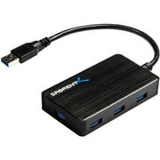 Sabrent™ 8 7 Port Portable USB 3.0 Hub With 4 A Power Adapter For Ultra Book/MacBook, Black
