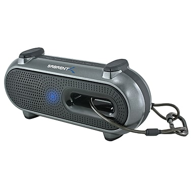 Sabrent™ SP-BYTA 2 W RMS Ultra-Portable Outdoor Wireless Bluetooth Speaker W/Snap Hook, Black