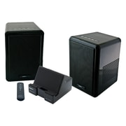 Sabrent™ SP-ESKY Classique 8 W RMS 150' Dual Wireless UHF Stereo Speaker System, Black