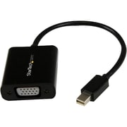 Startech.com® 3.9 Mini DisplayPort 1.2 to VGA Male/Female Adapter Converter, Black