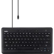 Belkin® B2B120 Wired Keyboard With Micro USB For Samsung Galaxy Tablets, Black