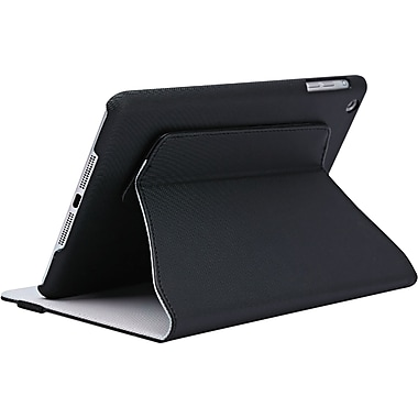 V7 TA50-10-BLK-14N Polyurethane Slim Rotating Case and Stand for Apple iPad Air, Black