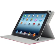 "V7 TUC20-10-RED-14N Polyurethane Slim Universal Folio Case for 10.1"" Apple iPad Mini and Tablet PCs, Red"