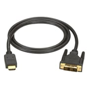 Black Box® 6.5' HDMI to DVI-D Male/Male Cable, Black