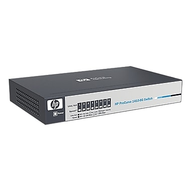 HP® Smart Buy 1410 Unmanaged Gigabit Ethernet Switch, 8 Ports